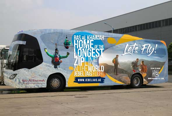 Free Shuttle bus between Dubai and Ras Al Khaimah