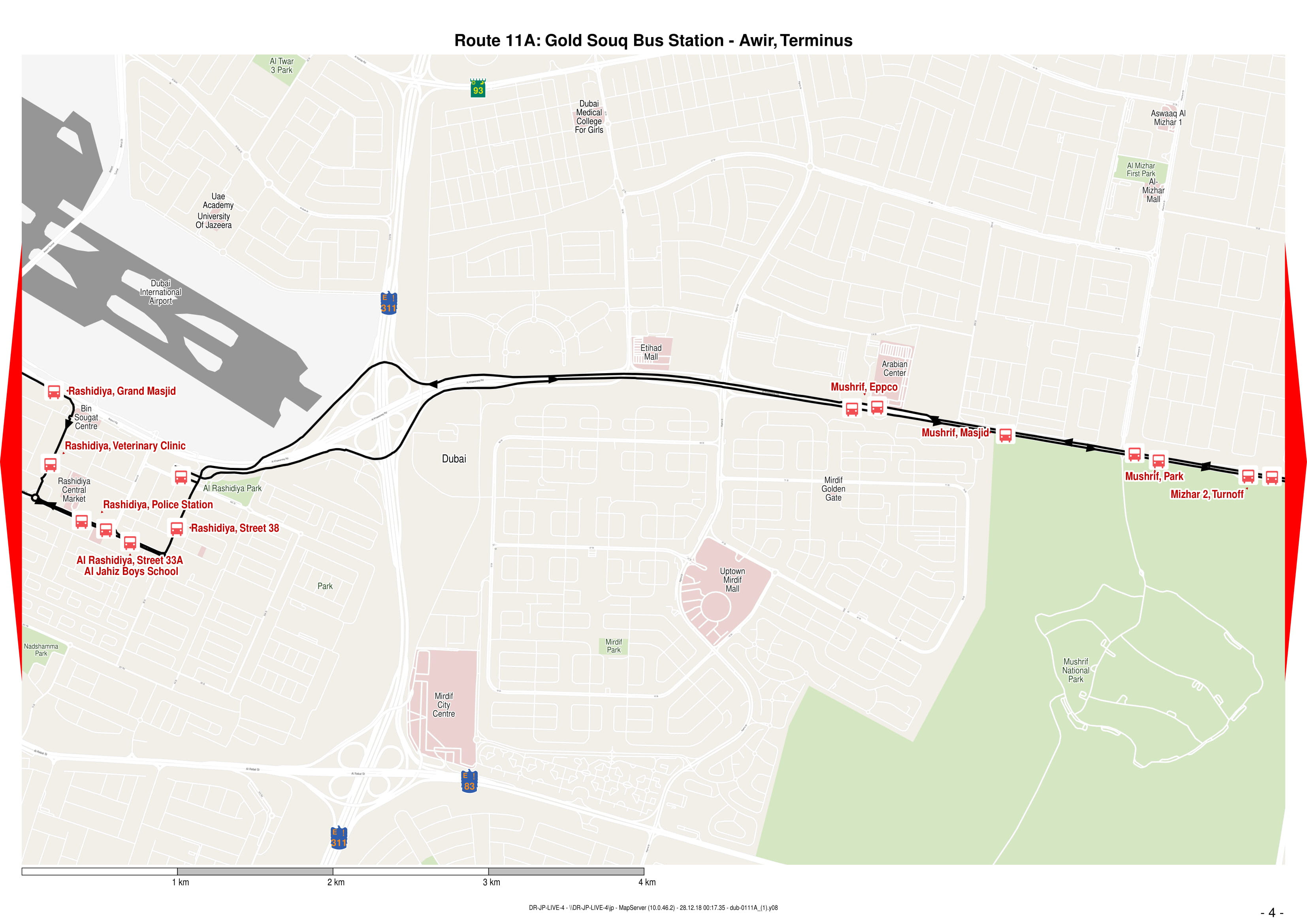11a Bus Route In Dubai Time Schedule Stops And Maps