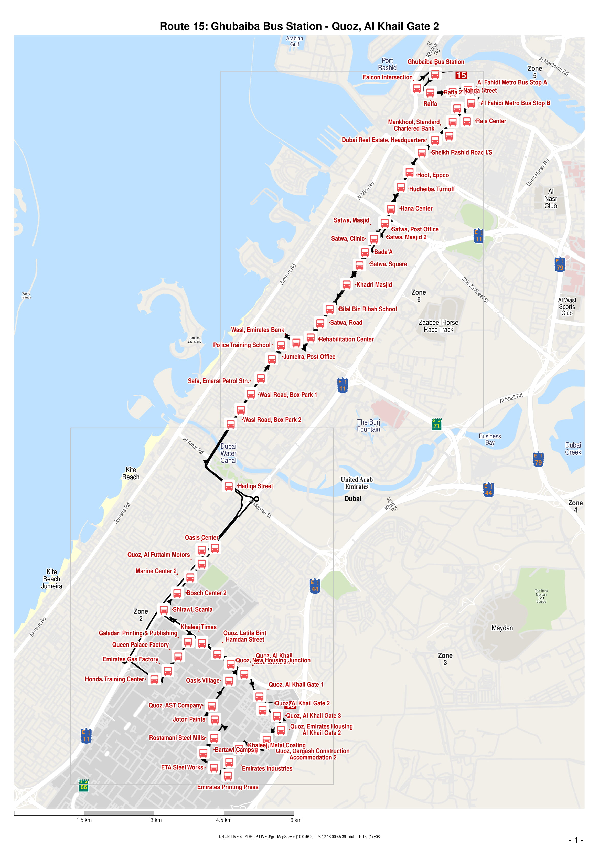 15 Bus Route in Dubai - Time Schedule, Stops and Maps - Your