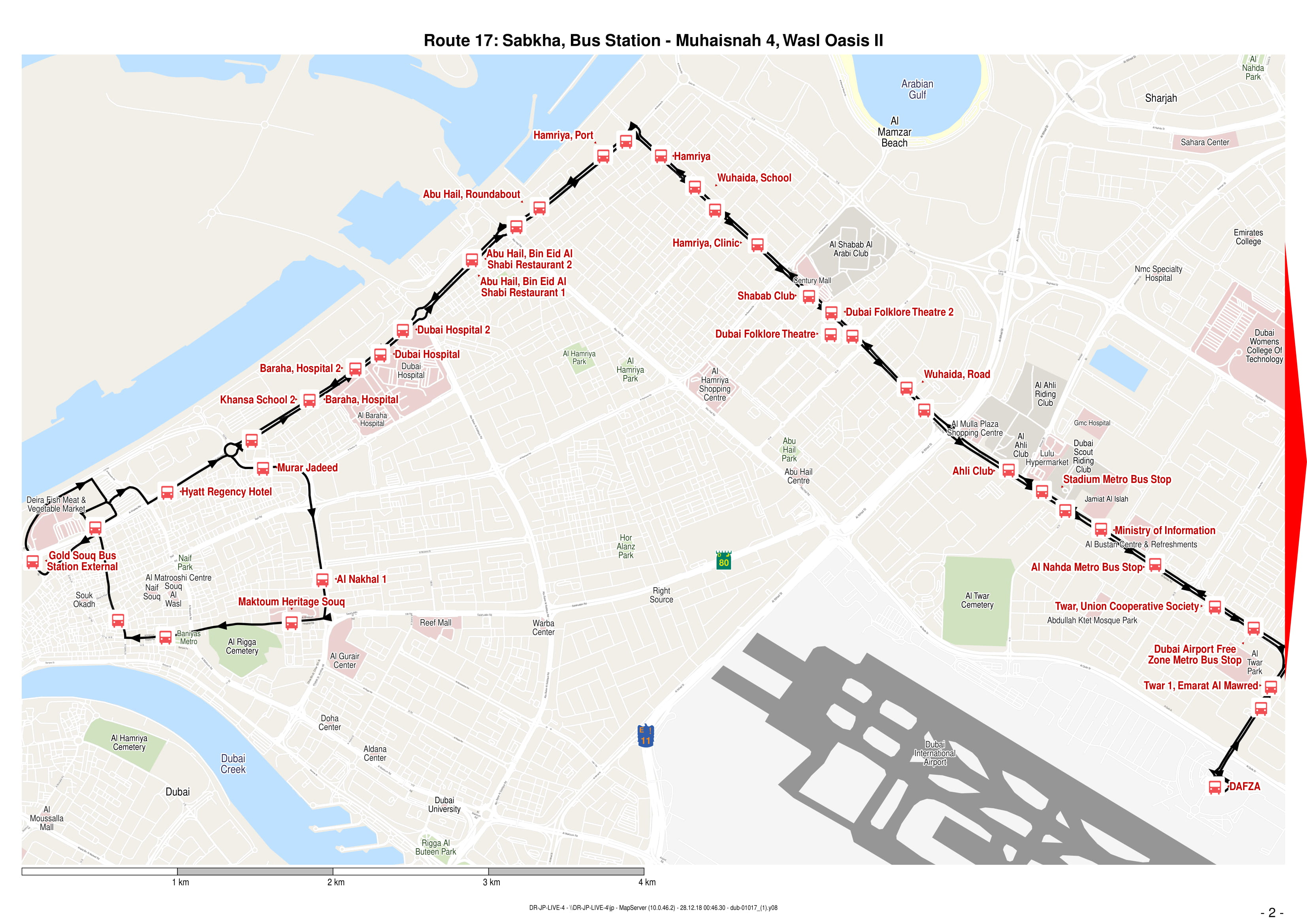 17 Bus Route In Dubai Time Schedule Stops And Maps