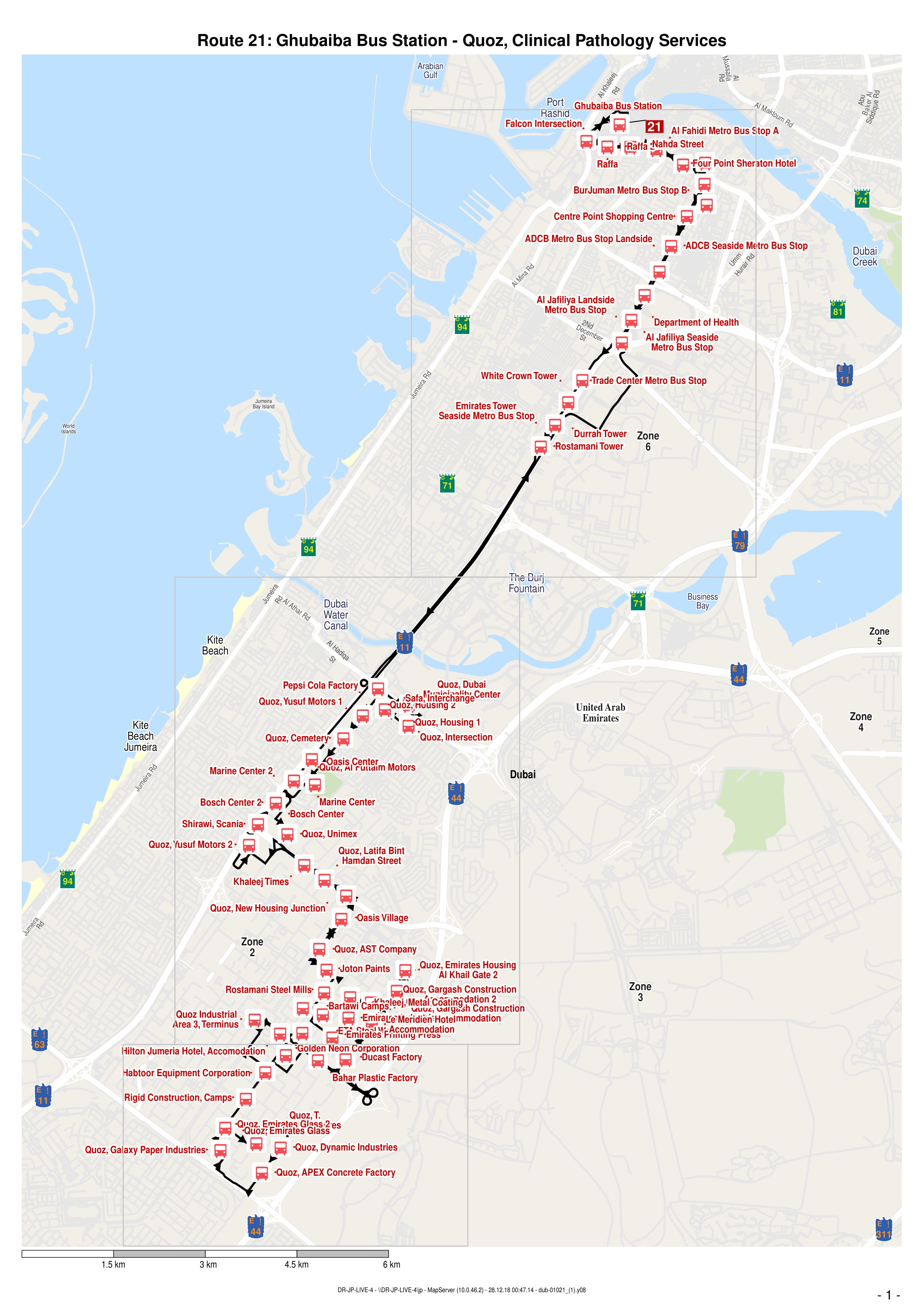 21 Bus Route In Dubai Time Schedule Stops And Maps