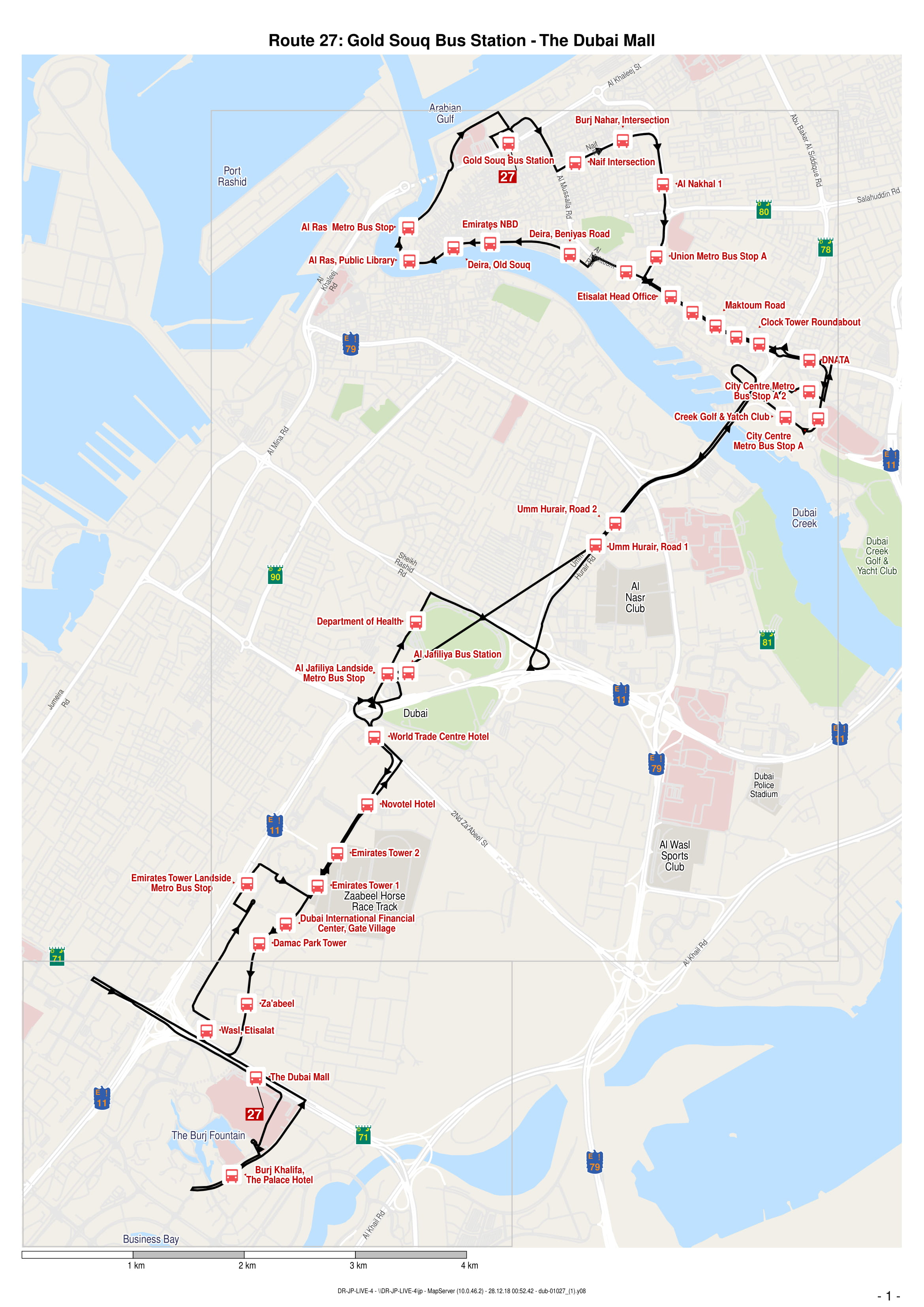 27 Bus Route in Dubai - Time Schedule, Stops and Maps - Your
