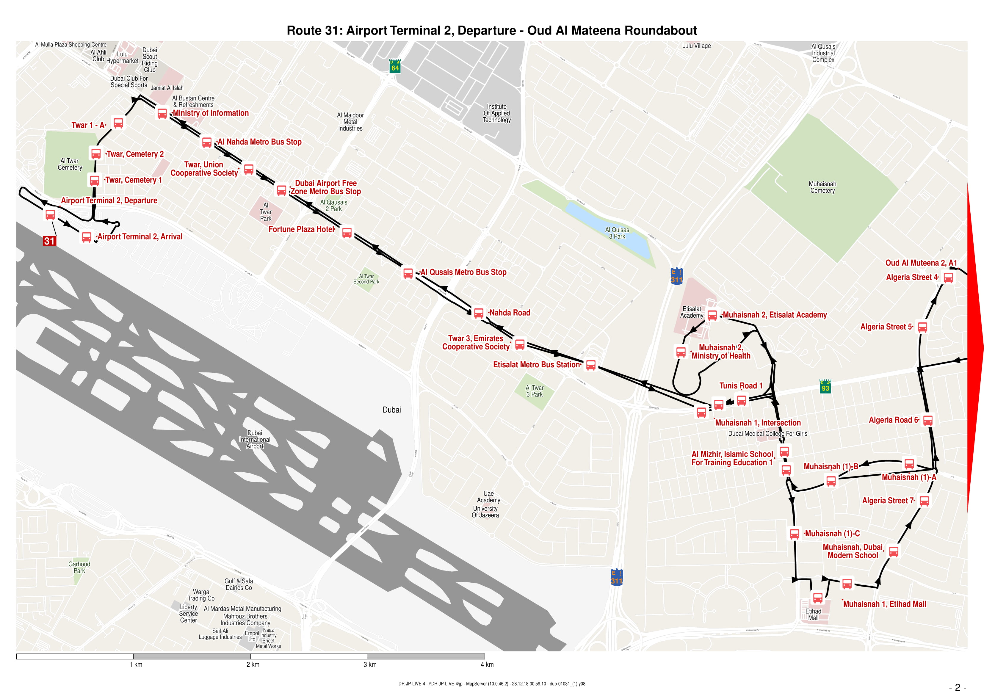 31 Bus Route In Dubai Time Schedule Stops And Maps