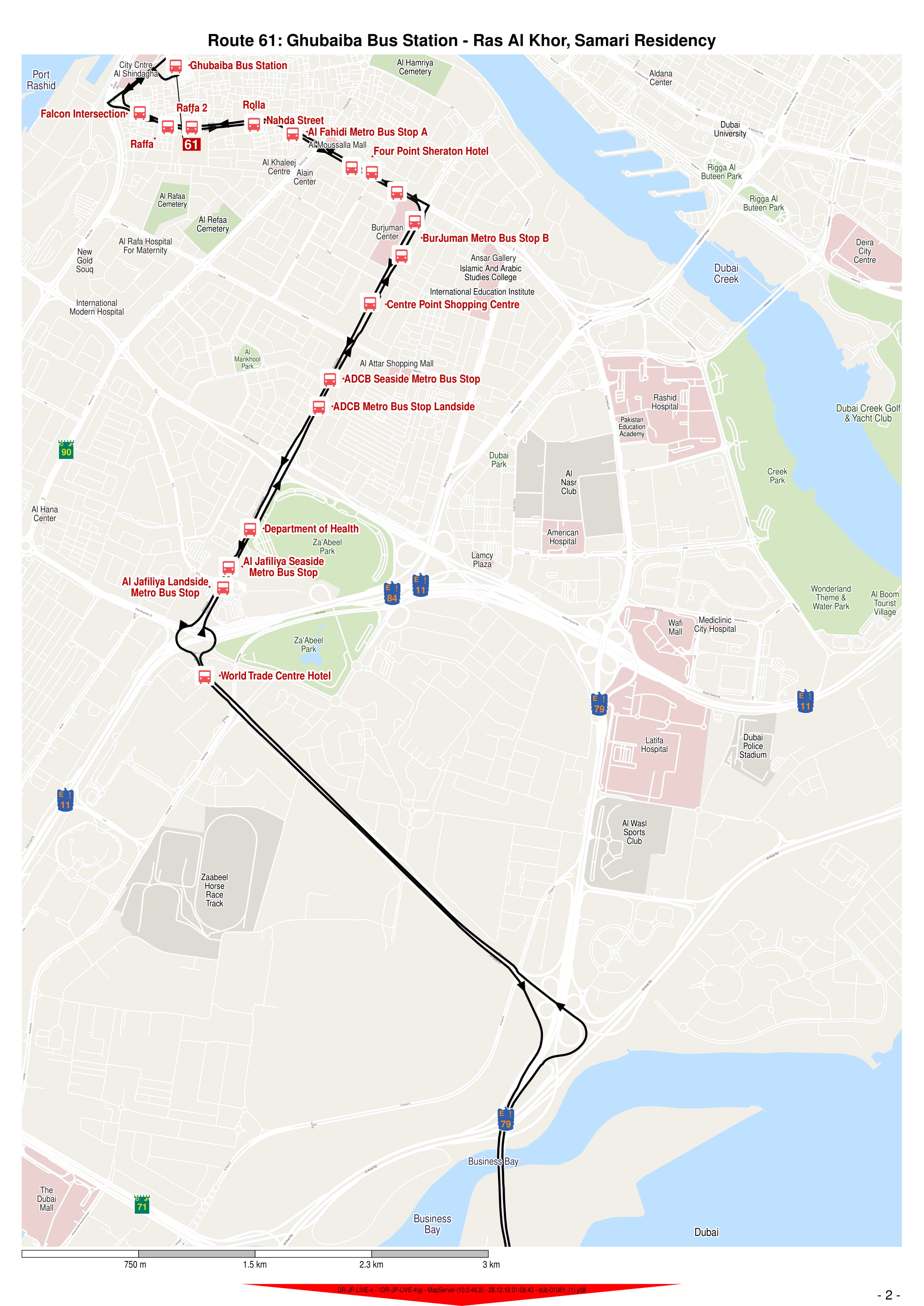 61 Bus Route in Dubai - Time Schedule, Stops and Maps - Your