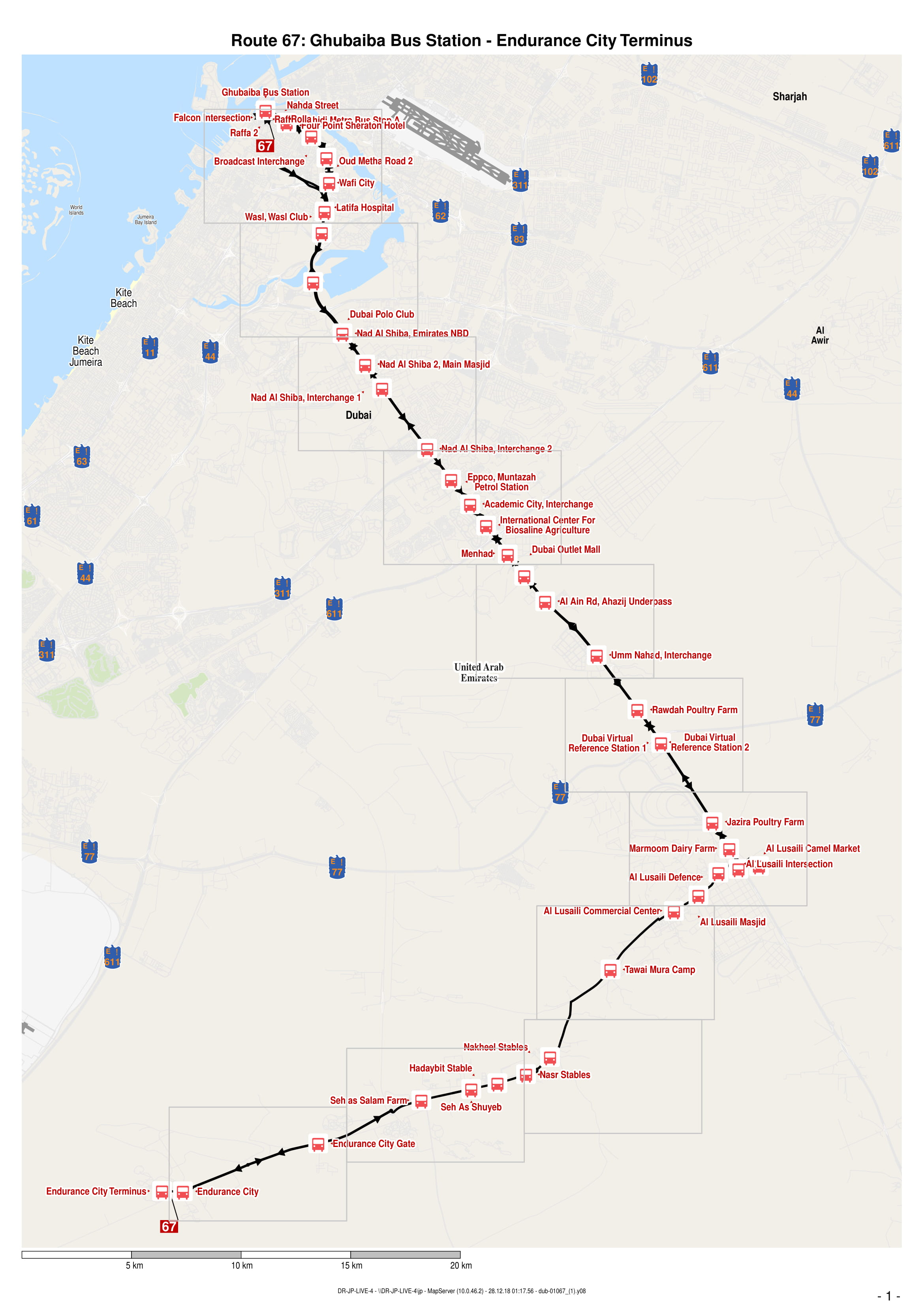 67 Bus Route In Dubai Time Schedule Stops And Maps Your