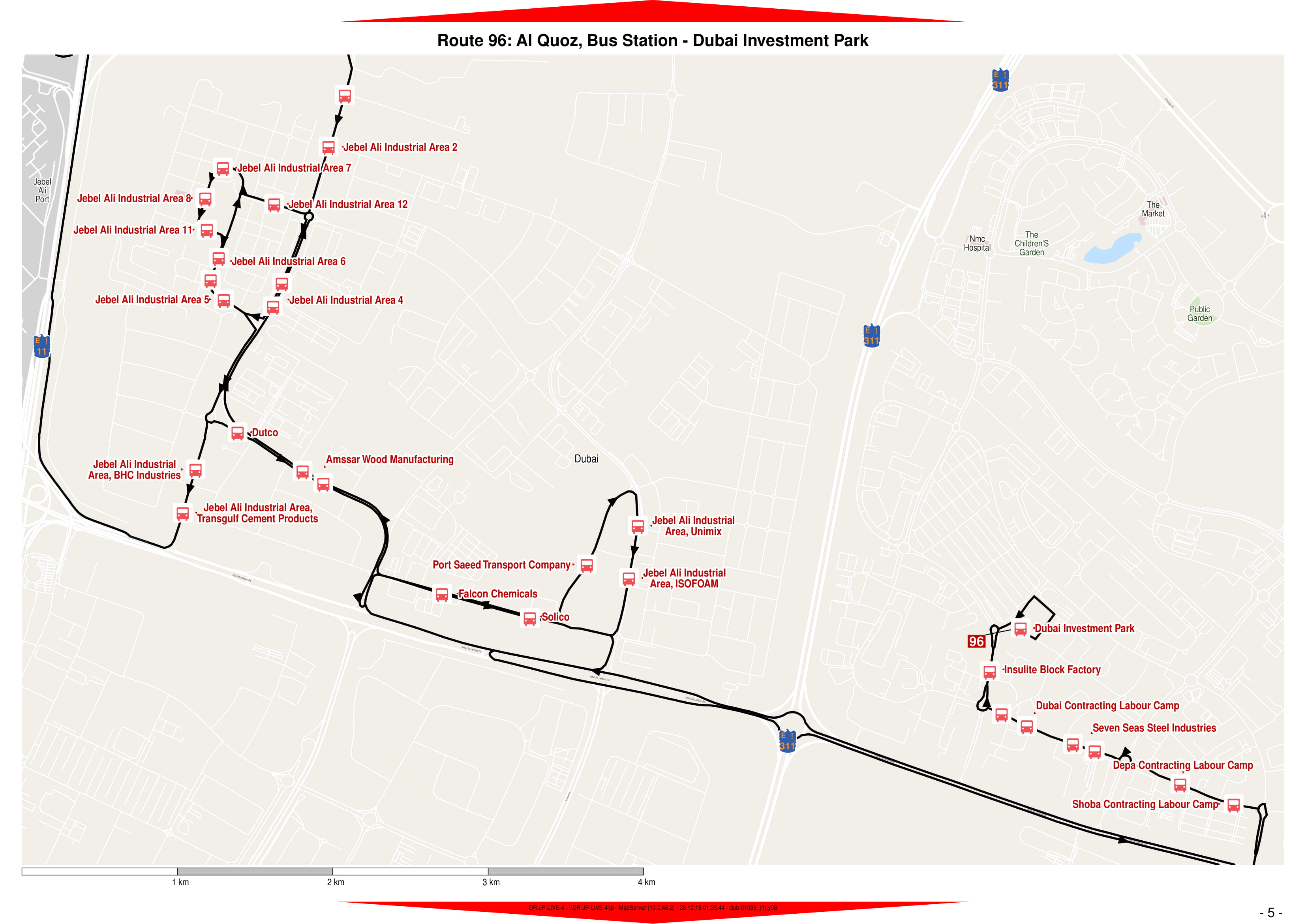 96 Bus Route In Dubai Time Schedule Stops And Maps