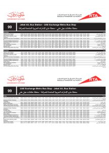 View 99 Bus Schedule Timetable Click To Enlarge