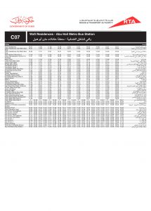 C07 Bus Route In Dubai Time Schedule Stops And Maps