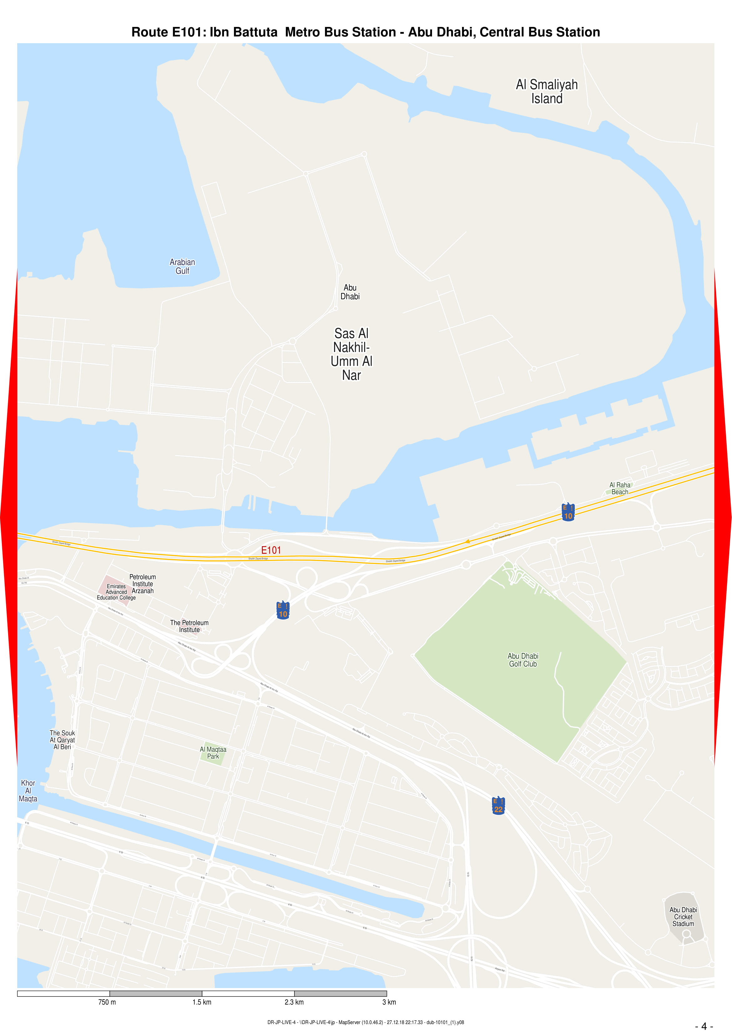 E101 Bus Route In Dubai Time Schedule Stops And Maps