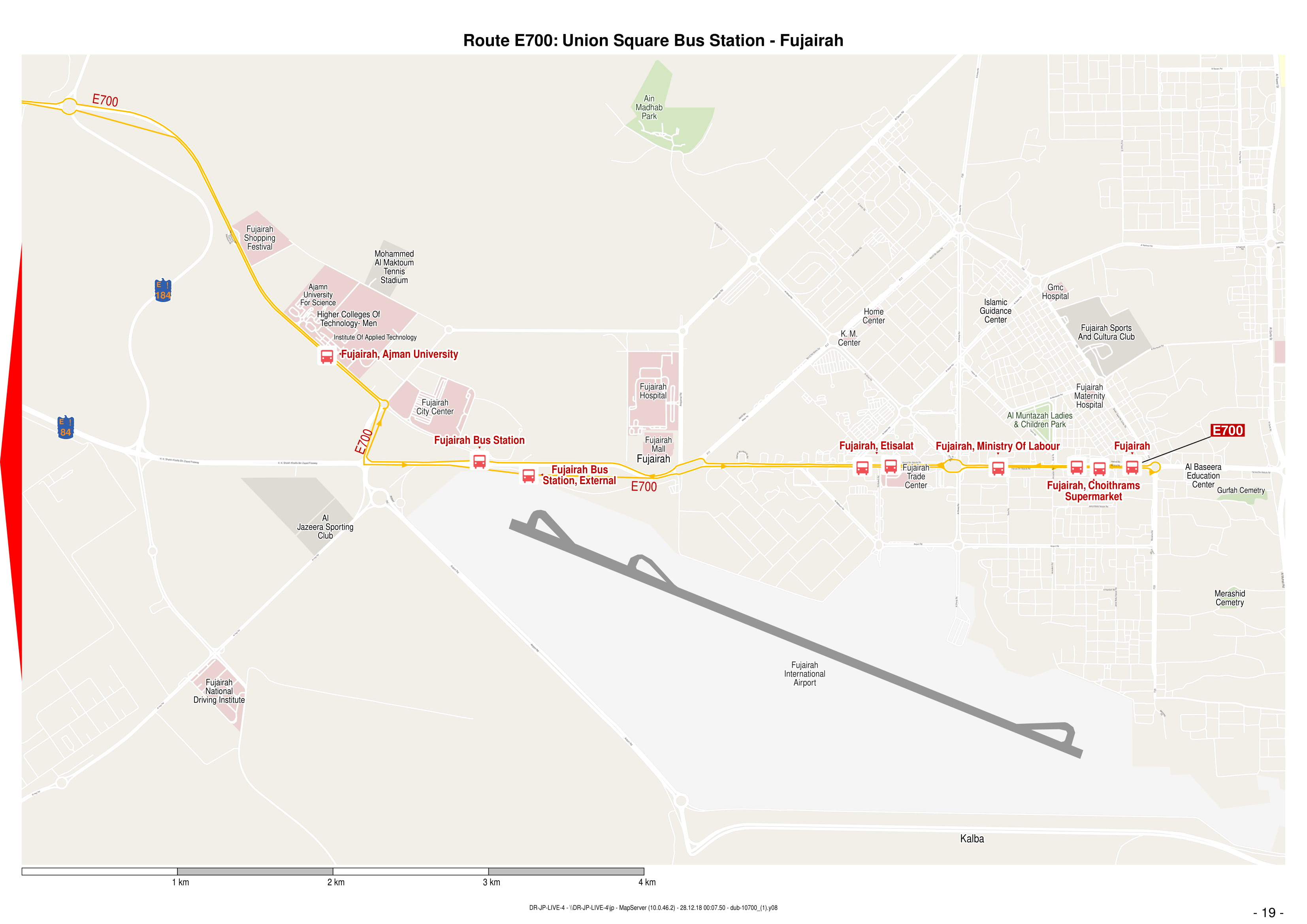 E700 Bus Route In Dubai Time Schedule Stops And Maps