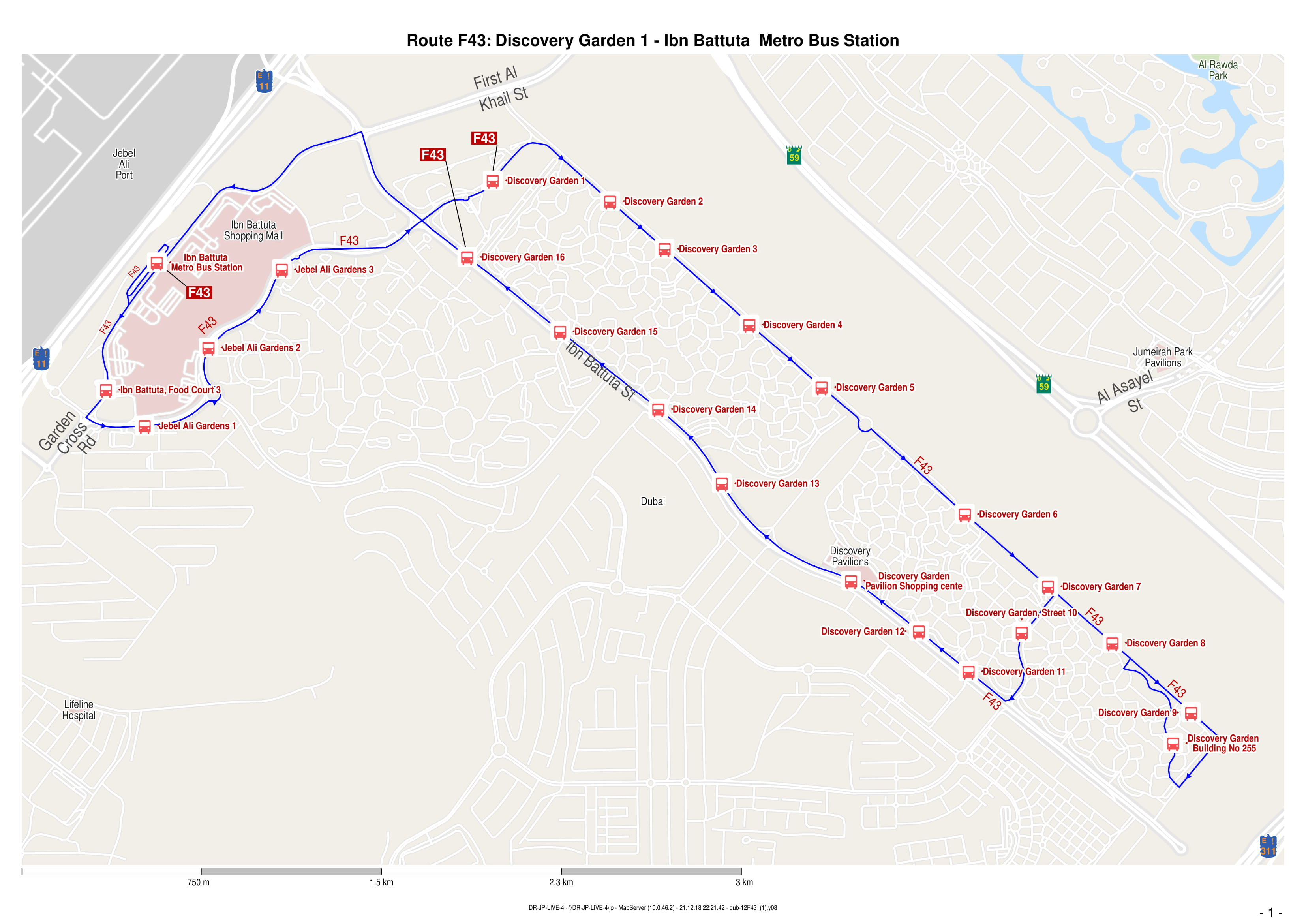 F43 Bus Route In Dubai Time Schedule Stops And Maps