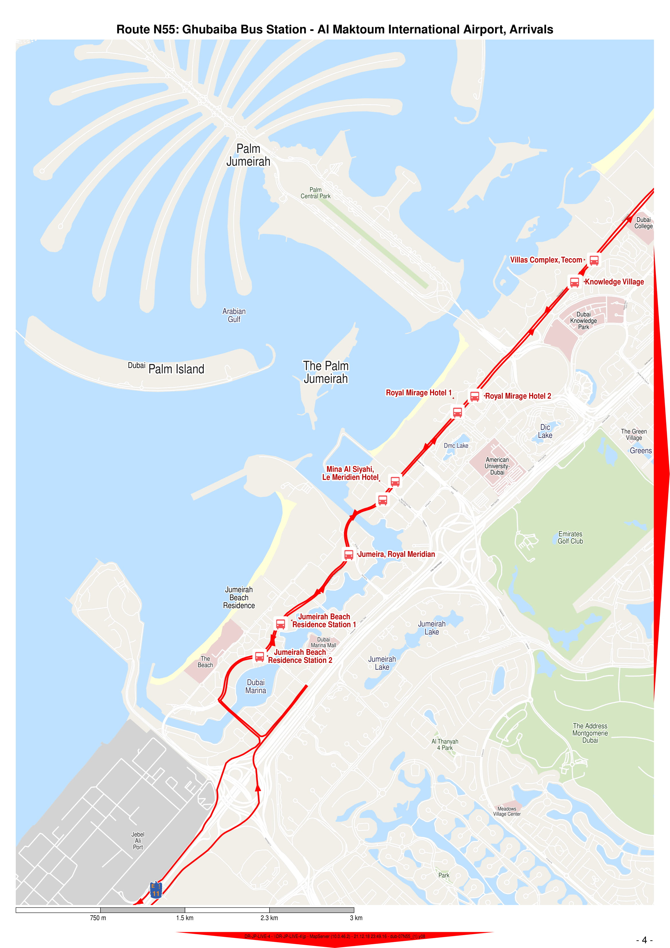 N55 Bus Route In Dubai Time Schedule Stops And Maps