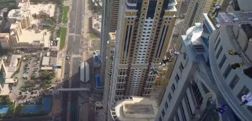 VIDEO: Base Jumping off Princess Tower in Dubai Marina