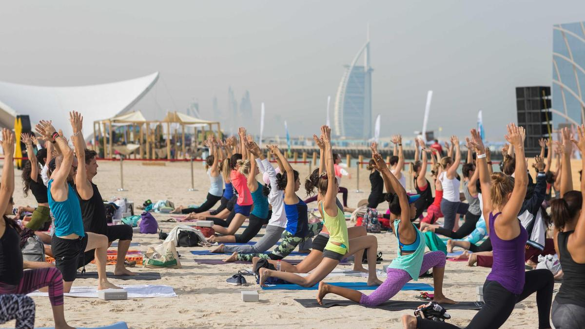 Flex Up At The XYoga Dubai Festival at Kite Beach