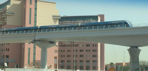 Metro Train spotted in Discovery Gardens – Dubai Metro Expo 2020 line