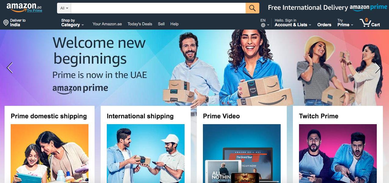 Amazon Prime Now in the UAE