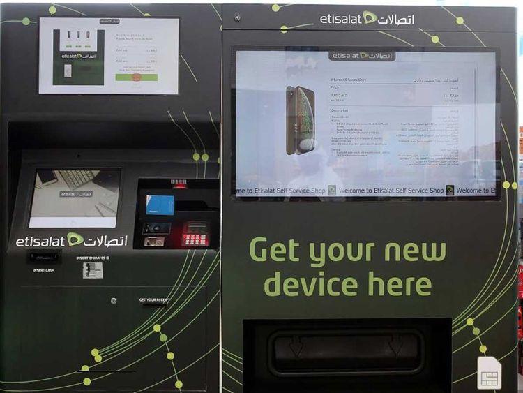 Etisalat's Smartphone Vending Machine