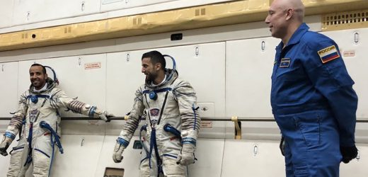 UAE astronauts try out customized spacesuits and seats in Moscow
