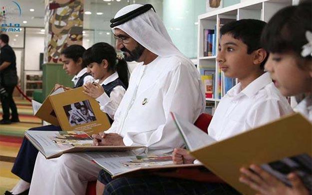 Vice President and Prime Minister of the UAE and Ruler of Dubai, Sheikh Mohammed bin Rashid Al Maktoum promotes Arab Reading Challenge