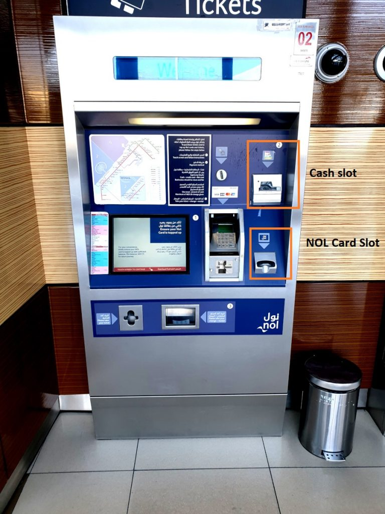 How to Recharge NOL Card at RTA Metro / Bus Ticket Machine