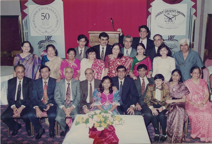Maghanmal Jethanand Pancholia with family