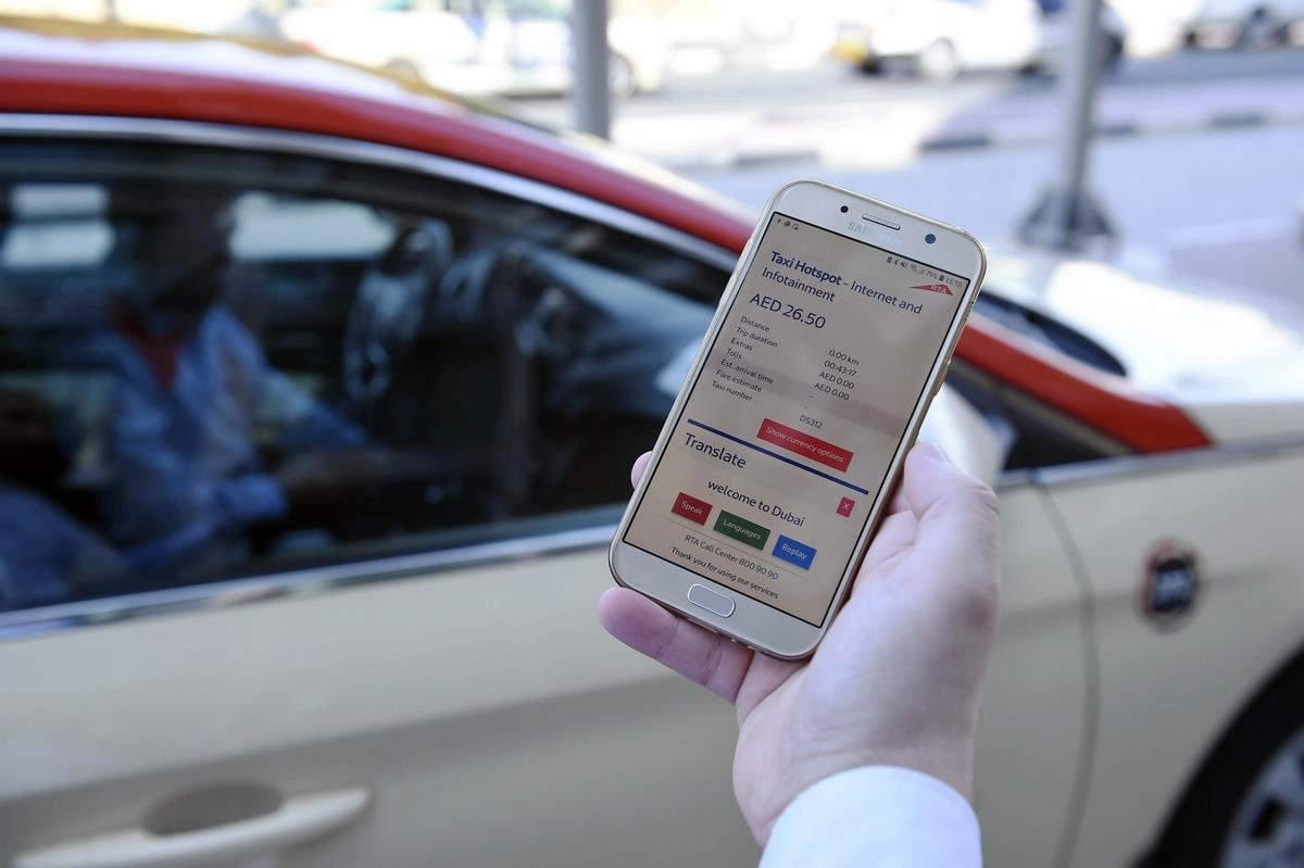 RTA 's 'Tech Taxi' Drive- Enjoy Free WiFi In Dubai Taxis