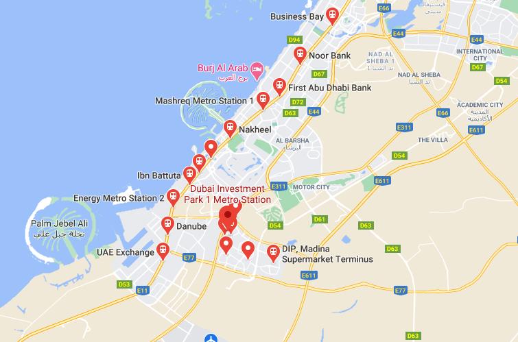 Dubai Investment Park Metro Station