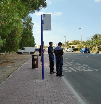 Al Safa, Street 13A 1 Bus Stop in Dubai