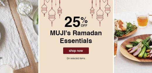 Ramadan 2021 UAE – MUJI offers