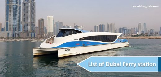 List of Dubai Ferry station. Where to buy the ferry tickets? Ticket cost