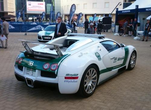 Dubai Police Super Cars - Bugatti Veyron back side