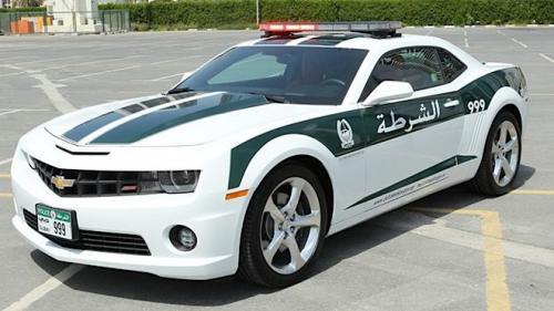 Chevrolet Camaro Dubai Police  parked