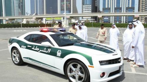 Chevrolet Camaro Dubai Police  with police