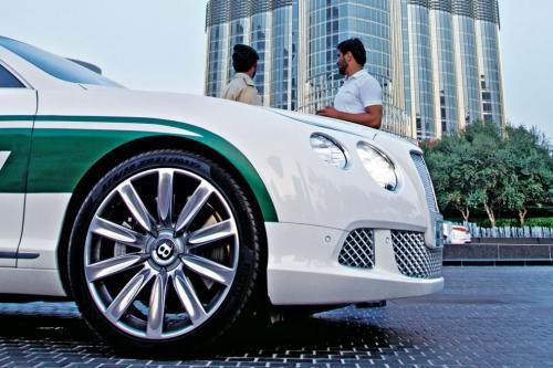 Dubai Police Bentley Continental GT burj khalifa