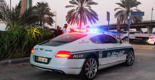 Dubai Police Bentley Continental GT with lights