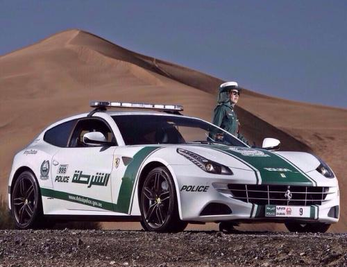 Dubai Police Cars - Ferrari in the desert