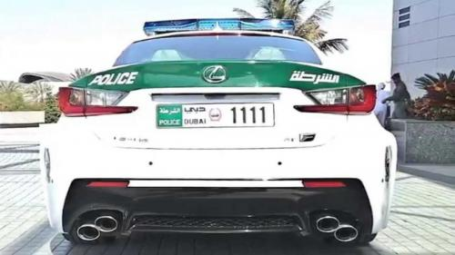 Dubai Police Lexus RC-F back