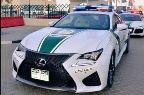 Dubai Police Lexus RC-F front