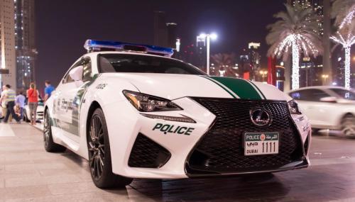 Dubai Police Lexus RC-F night (1)