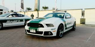 Ford Mustang Roush Dubai Police parked