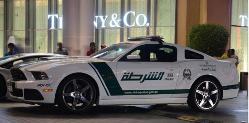 Ford Mustang Roush Dubai Police side