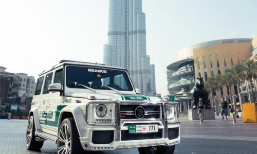 Mercedes-Benz G Wagon Brabus Dubai Police burj khalifa