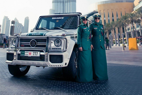 Mercedes-Benz G Wagon Brabus Dubai Police with lady police