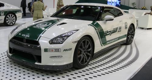 Nissan GTR Dubai Police front view