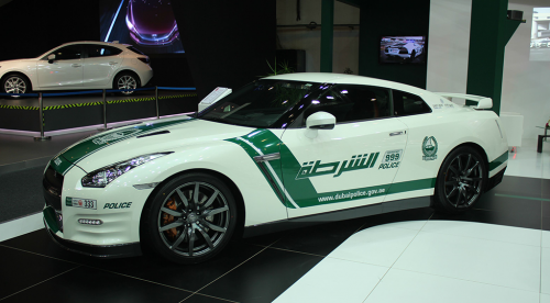 Nissan GTR Dubai Police side view