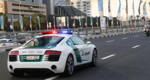 audi r8 dubai police car