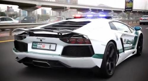 lamborghini aventador dubai police backside