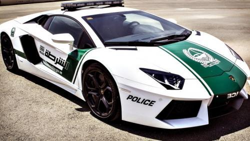 lamborghini aventador with dubai police