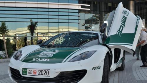 mclaren dubai police burj khalifa